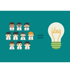Businessman teamwork get idea eps10 forma vector