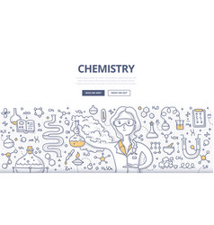 Chemistry doodle concept vector