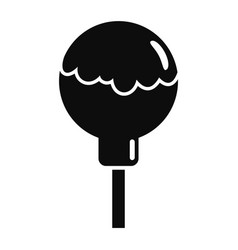 choco lollipop icon simple style vector image