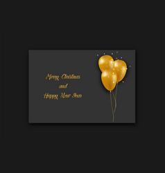 Christmas card template christmas balloon with vector