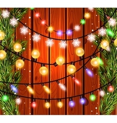 Christmas decorations glowing lights effects for vector