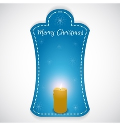 Christmas vertical sticker done in blue with vector image