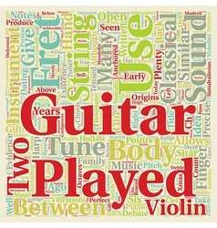 Classical Guitar text background wordcloud concept vector