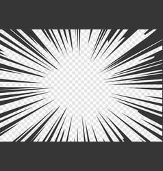 Comic book motion effect black pop art rays vector