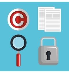 Copyright symbol design vector
