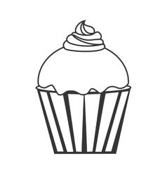 Cupcake delicious desert vector image