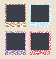 Cute frames for snapshots photo frames with vector