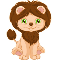 Cute Lion vector