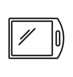 cutting board outline icon on white background vector image