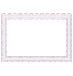 Decorative guilloche frame vector image