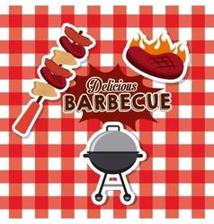 Delicious barbacue design vector
