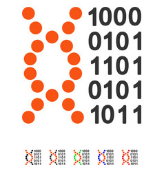 Dna code flat icon vector