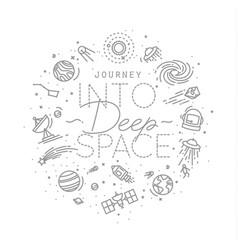 flat deep space monogram vector image