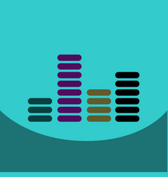 Flat icon design collection sound and audio waves vector