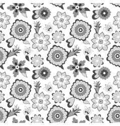 Flower pattern background vector image