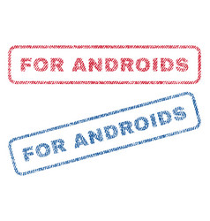 For androids textile stamps vector