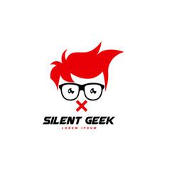 geek logo template geek logo character vector image
