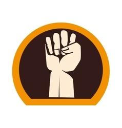 Hand human strong gym vector