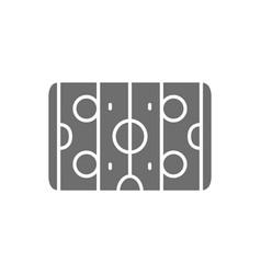 Hockey field air hockey gray icon vector