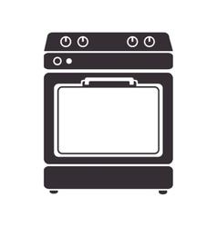 Home kitchen stove vector