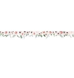 horisontal botanical design banner pink vector image