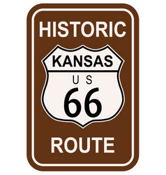 Kansas historic route 66 vector