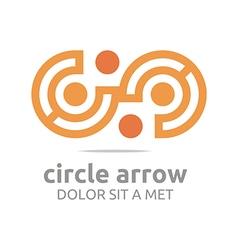 letter c arrow icon symbol logo vector image