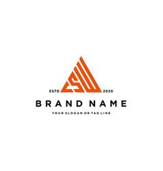 Letter csw logo design vector