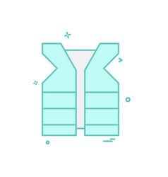 life jacket icon vector image