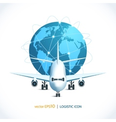 Logistic icon airplane vector image
