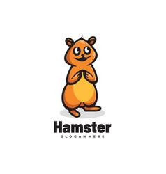 Logo hamster simple mascot style vector