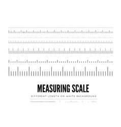 Measuring rulers different scale length and vector