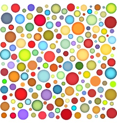 Multi colour bubbles backdrop vector