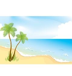 Ocean coast vector