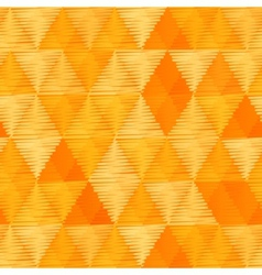 Orange vintage textile triangles seamless pattern vector image