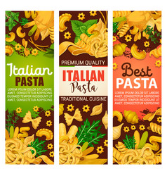 Pasta from italy with greenery for restaurant menu vector