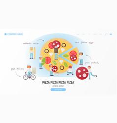 pizzeria web site vector image