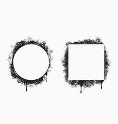 pray painted frames in square and circle form vector image