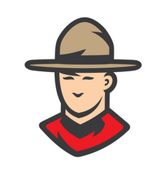 royal canadian mounted police men sign vector image
