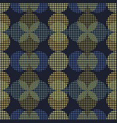 seamless abstract retro geometric pattern blended vector image