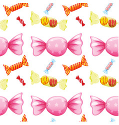 Seamless pattern tile cartoon with candy vector
