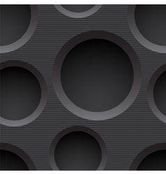 Seamless plastic background with holes vector