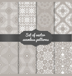 set of abstract geometric pattern vector image