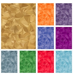 Set of multicolored abstract backgrounds vector