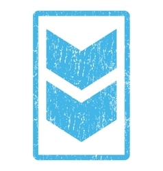 Shift down icon rubber stamp vector