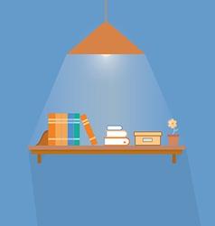 Simple book shelf vector image