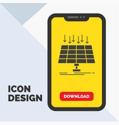 Solar panel energy technology smart city glyph vector