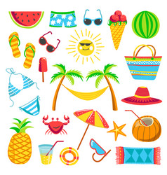 summer travel or holiday vacation bright vector image