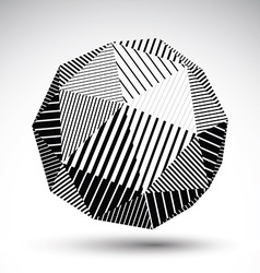 Symmetric spherical technology object with vector