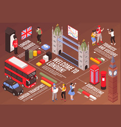 welcome to london infographics background vector image